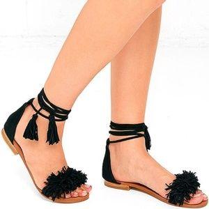 Steve Madden Sweetyy Black Sandal Size 10